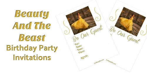 Belle birthday party invitations