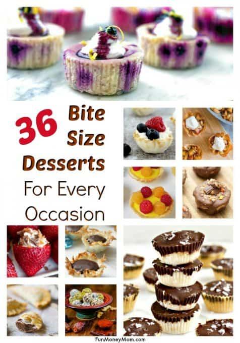 Bite size desserts -