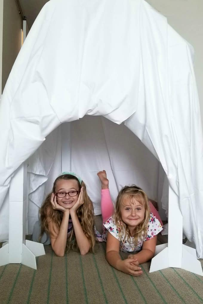 Building our fort was the highlight of our reconnected experience