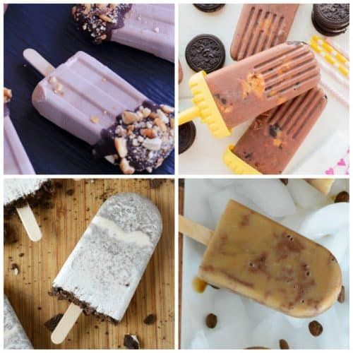 If you have a sweet tooth, just add a little chocolate to your popsicle recipe