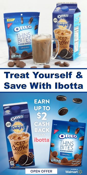 Ibotta Deal - Save money and everything tastes sweeter! Check out this Ibotta offer to learn how you can save up to $2 when you buy International Delight OREO Iced Coffee and OREO Thins Bites. #OREOdeals #IC #ad