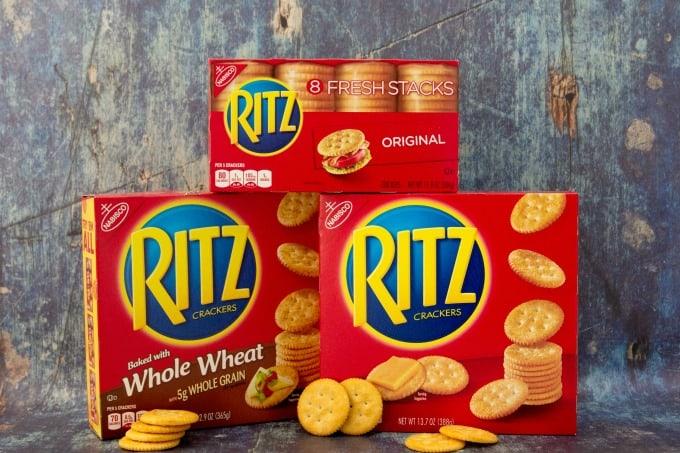 RITZ Crackers stacked
