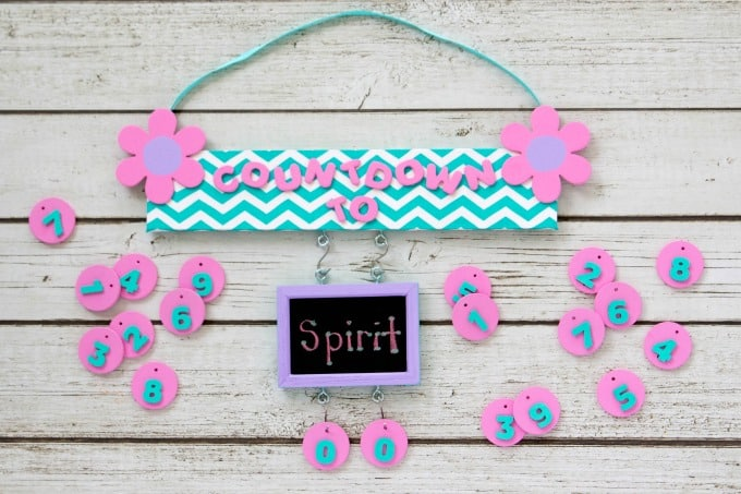 Countdown board for special occasions