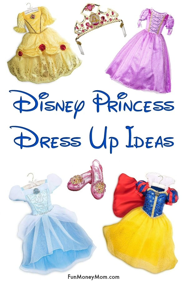 Disney Princess Dress Up - Do your little girls love playing dress up? These Disney princess dresses will keep them entertained for hours! Plus, find out if the pricier dress up dresses are worth the money! #Disneyprincess #Disneyprincessdressup #dressup #princess #costumes #dressupideas #princessdress