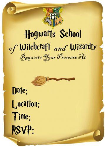 Harry Potter Invitation 2 Customizable