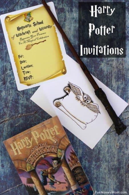 Harry Potter Invitations Pinterest 1