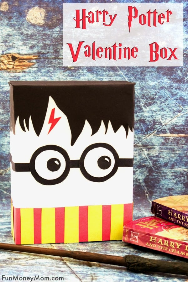 Harry Potter Valentine Box - Do the kids need Valentine Boxes for Valentine's Day? Every little Harry Potter fan will love making a Harry Potter box to collect those Valentines! #ValentinesDay #valentinesbox #harrypottervalentinebox #harrypotterbox #valentinecraft #harrypottercraft