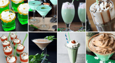 A variety of St Patrick's Day cocktails