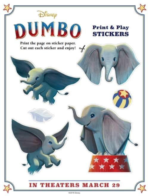 Dumbo Stickers