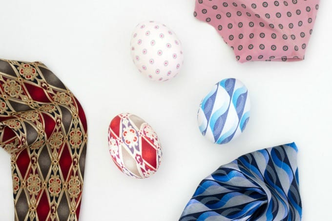 Easter Eggs from Silk Ties