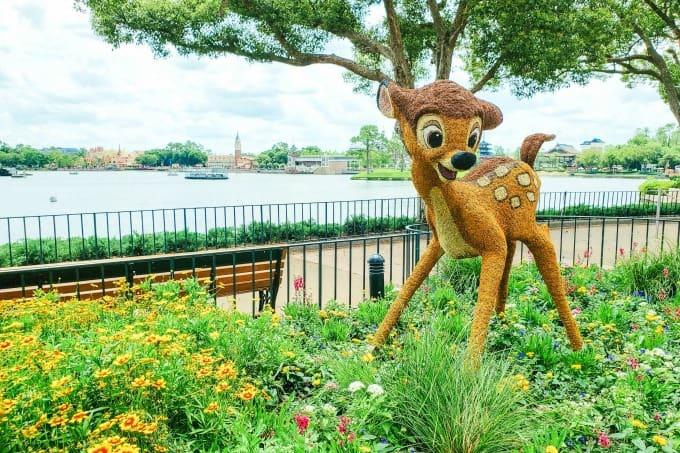 Bambi Topiary at Epcot