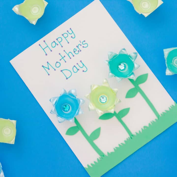 Finished DIY Mother's Day card