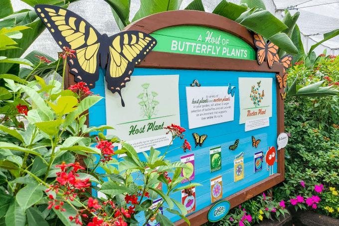 Sign in butterfly garden