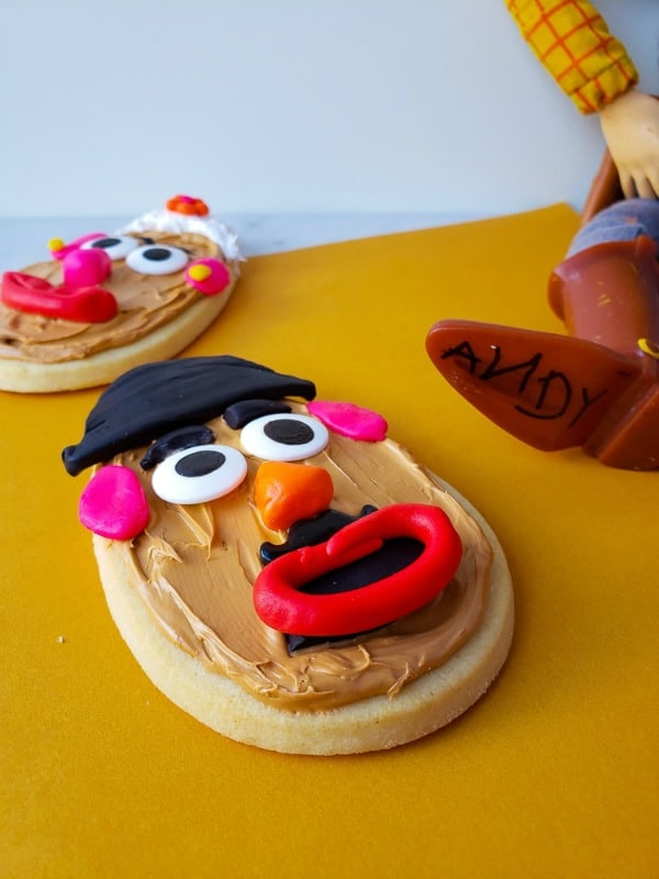 Mr. and Mrs. Potato Head Toy Story Cookies