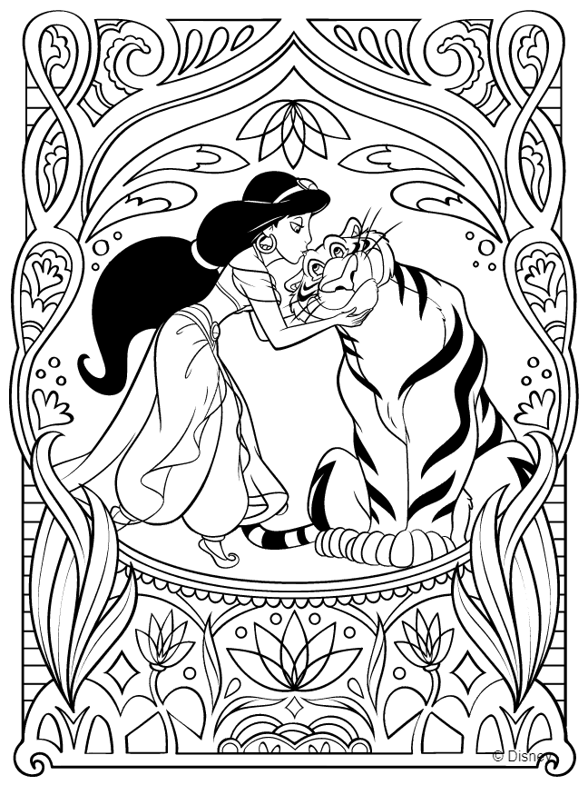 Disney Princess Coloring Page - Jasmine