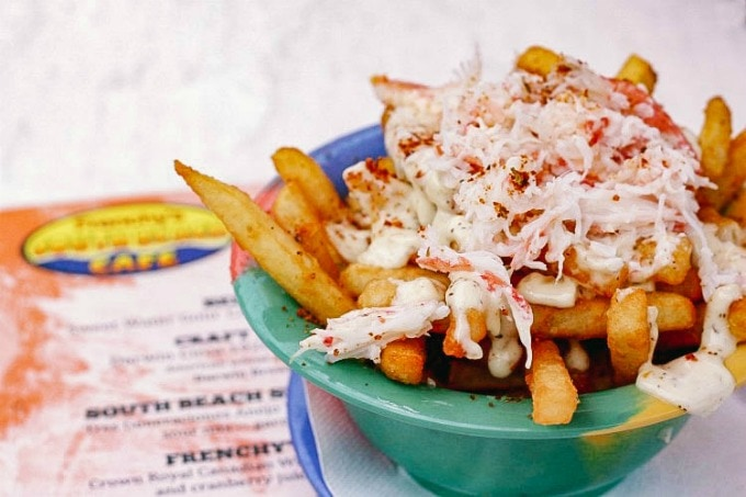 Crab Fries make this one of the best places to eat in Clearwater Florida
