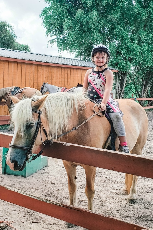 Keira on horse