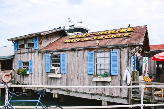 One of the best places to eat in Clearwater, Florida, The Bait House