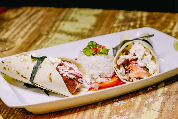 Salmon Tacos at The Living Room In Main