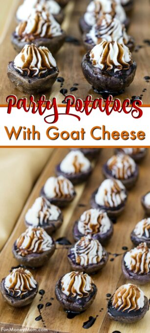 Potatoes with goat cheese