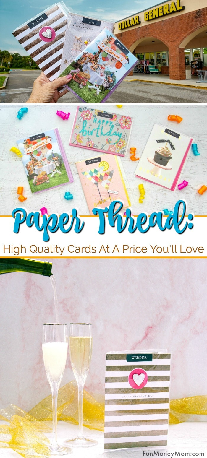 Paper Thread cards from Dollar General