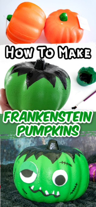 Frankenstein pumpkin tutorial pictures