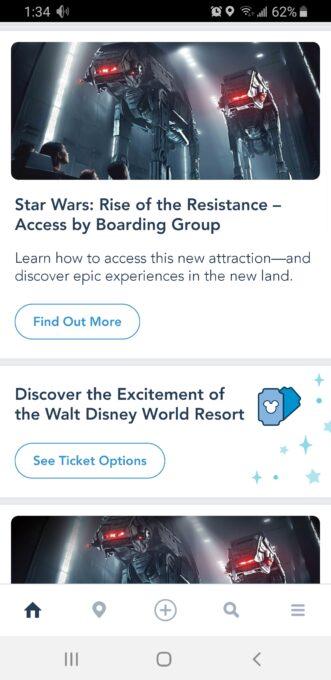 Walt Disney World app