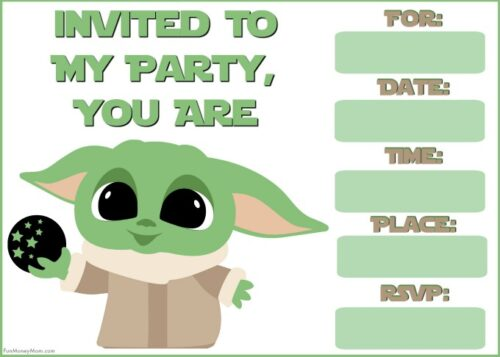 Baby Yoda with sphere