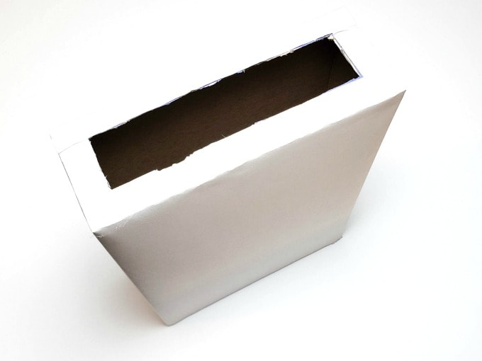 Cereal box wrapped in paper