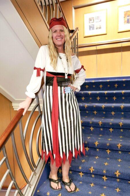 Pirate costume for pirate night