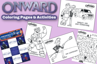 Onward Coloring Pages feature