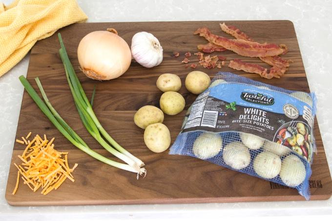 Ingredients for easy potato soup recipe