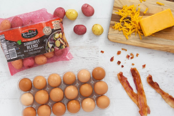 Ingredients for mini egg muffins