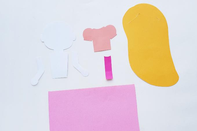 Pieces for Rapunzel paper doll