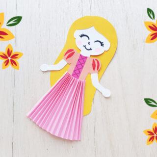 Rapunzel paper doll feature