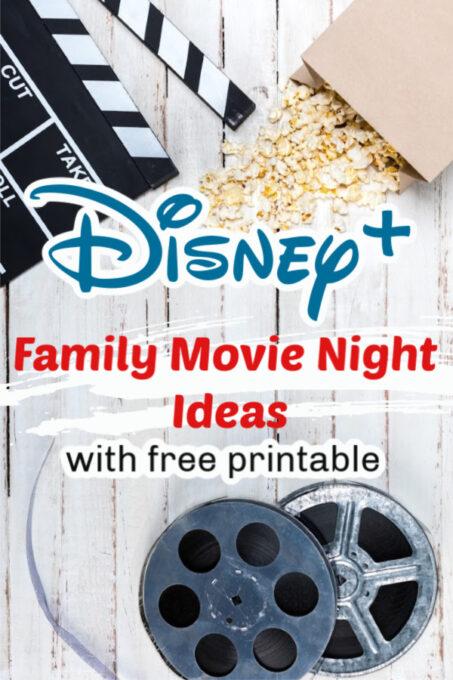 Disney+ Family Movie Night Ideas pinterest