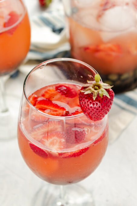 berry sangria in glass