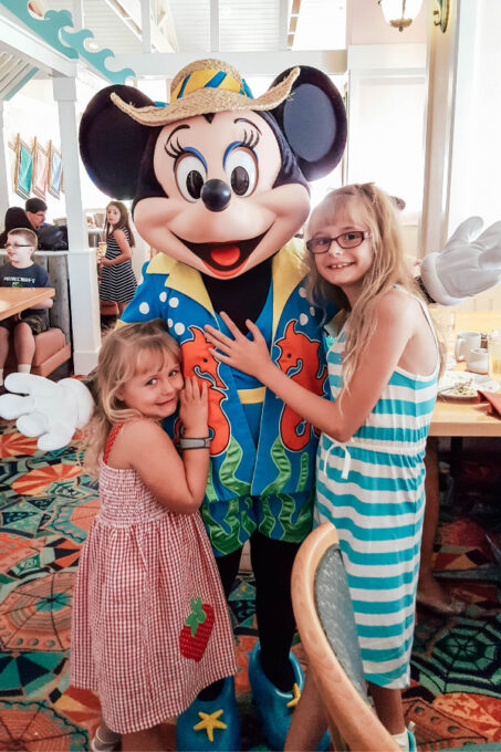 Character dining with Minnie Mouse