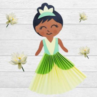 Princess Tiana paper doll square