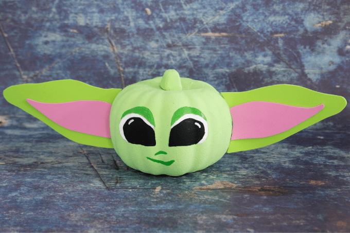 No Carve Baby Yoda Pumpkin