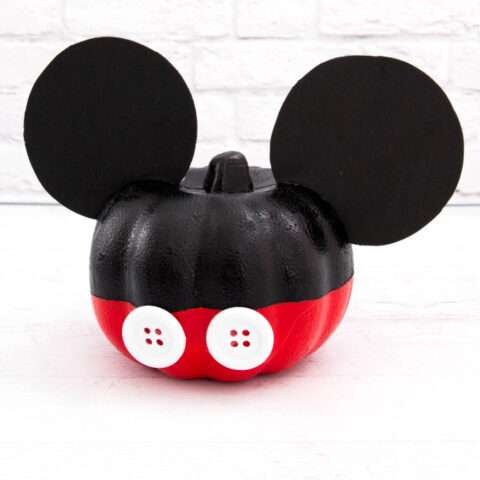 Easy Mickey Mouse Pumpkin