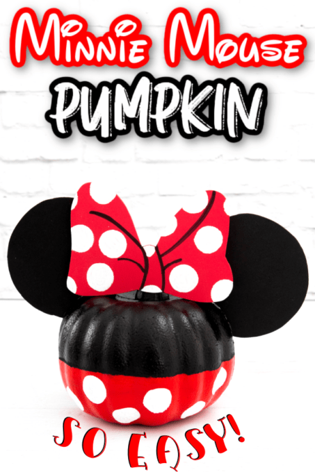 Minnie Mouse pumpkin on white background