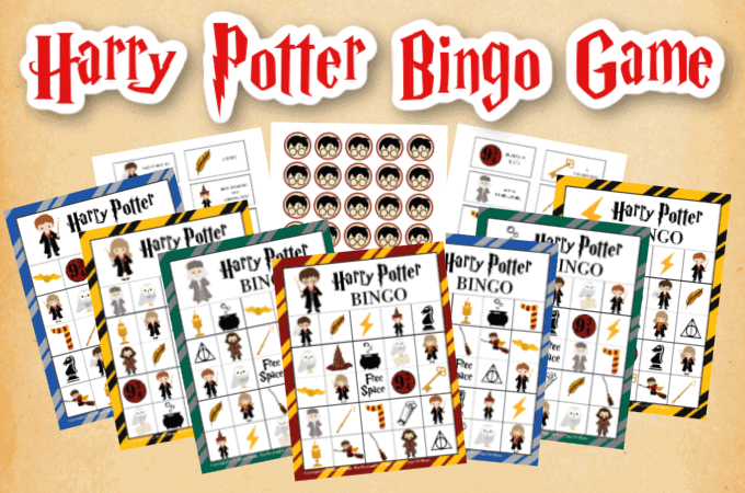 Harry Potter Bingo Game Printables