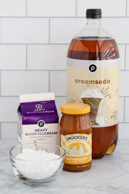 Ingredients for easy Butterbeer recipe
