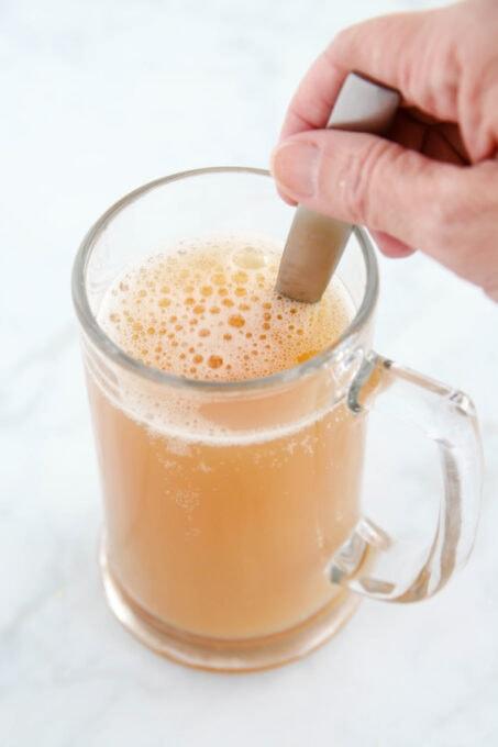 Stirring Butterbeer ingredients