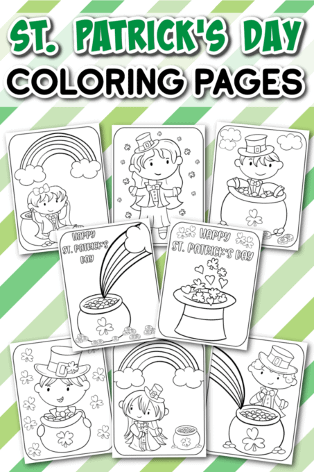 St. Patrick's Day Coloring Pages Pin 2