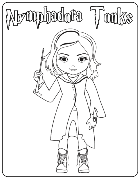 Tonks coloring page
