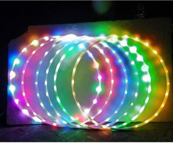 Light up hula hoops