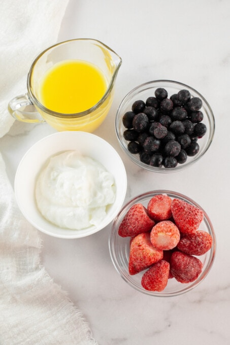 ingredients for fruit popsicles