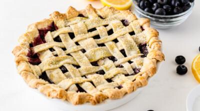 Pie crust in a lattice pattern